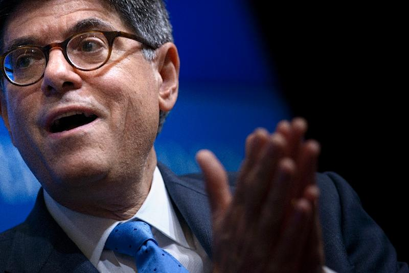 US Secretary of the Treasury Jacob Lew speaks at the Brookings Institution July 8, 2015 in Washington