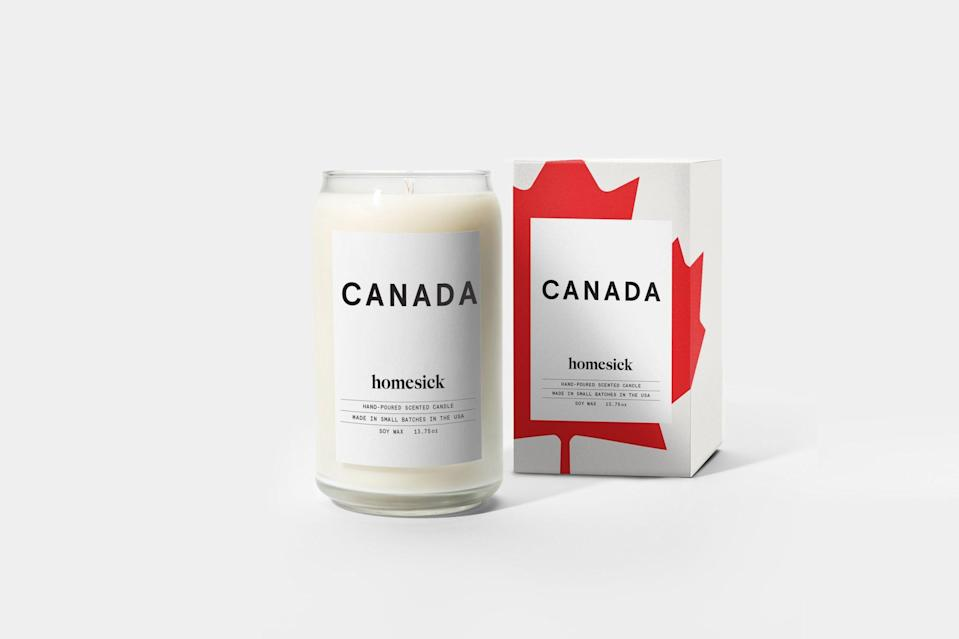 Canada Candle. Image via Homesick Candles.