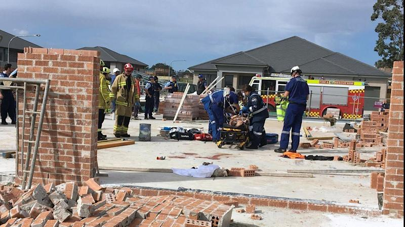A man has died after a wall collapsed on him in Carlingford, in Sydney's northwest.