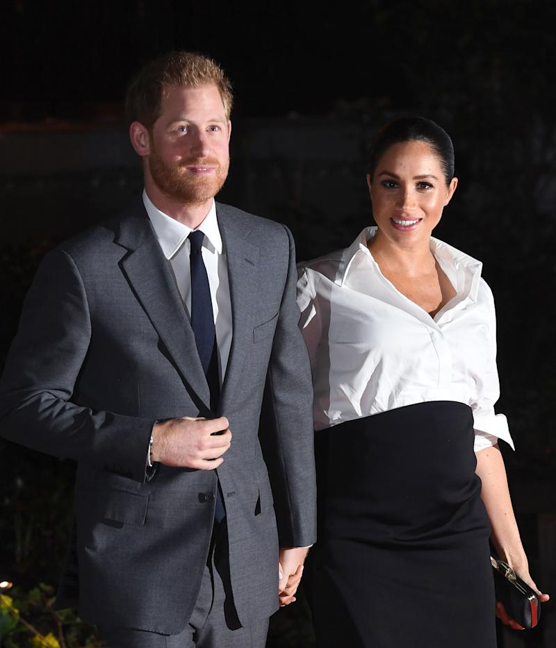 The Duke and Duchess of Sussex arriving at the Endeavour Fund Awards at Drapers Hall, London. (Doug Peters/EMPICS Entertainment)