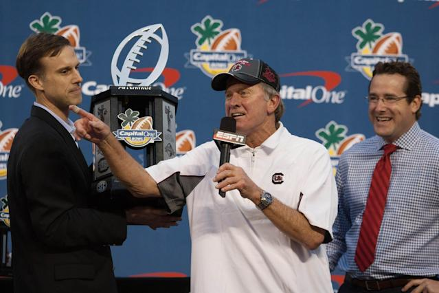 Steve Spurrier would rather schedule East Carolina than a 'bottom Big Ten team,' and rightly so
