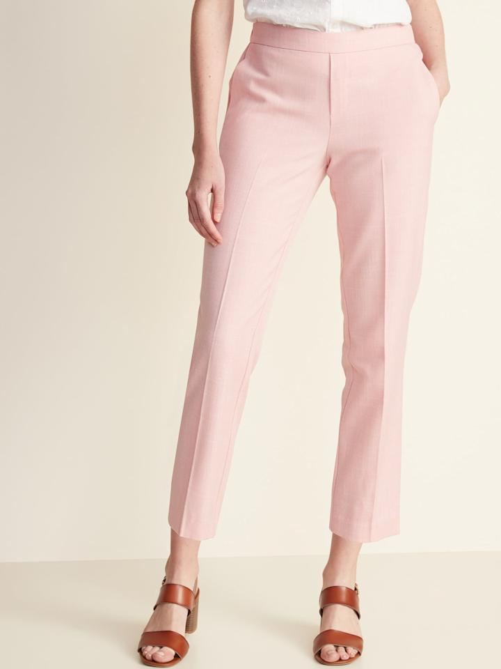 """<p><a href=""""https://www.popsugar.com/buy/Old-Navy-Mid-Rise-Pull--Straight-Pants-549004?p_name=Old%20Navy%20Mid-Rise%20Pull-On%20Straight%20Pants&retailer=oldnavy.gap.com&pid=549004&price=35&evar1=fab%3Aus&evar9=47218303&evar98=https%3A%2F%2Fwww.popsugar.com%2Ffashion%2Fphoto-gallery%2F47218303%2Fimage%2F47218346%2FOld-Navy-Mid-Rise-Pull-On-Straight-Pants&list1=shopping%2Cold%20navy%2Ceditors%20pick%2Cpants%2Cworkwear%2Cspring%20fashion%2Cfashion%20shopping&prop13=api&pdata=1"""" rel=""""nofollow"""" data-shoppable-link=""""1"""" target=""""_blank"""" class=""""ga-track"""" data-ga-category=""""Related"""" data-ga-label=""""https://oldnavy.gap.com/browse/product.do?pid=394202022&amp;cid=1061987&amp;pcid=5475&amp;vid=1&amp;grid=pds_10_20_1#pdp-page-content"""" data-ga-action=""""In-Line Links"""">Old Navy Mid-Rise Pull-On Straight Pants</a> ($35)</p>"""