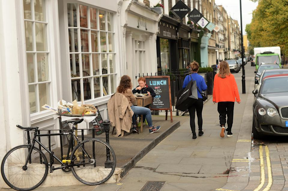Vibrant areas like New Quebec Street in Marylebone, pictured, are attracting people back to Westminster (Daniel Lynch)