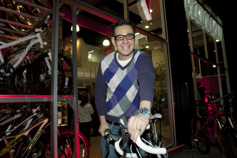 MEXICO CITTY, MEXICO - NOVEMBER 17: Yordi Rosado poses for photographers during the inauguration of the store 'Specialized Bicycle Components' on November 17, 2010 in Mexico City, Mexico. (Photo by Marcos Delgado/Clasos.com/LatinContent via Getty Images)