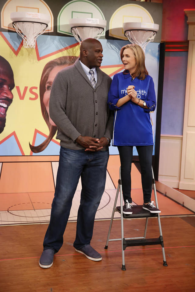Shaquille O'Neal and Meredith Vieira (Photo: Peter Kramer/NBCU/NBCU Photo Bank via Getty Images)