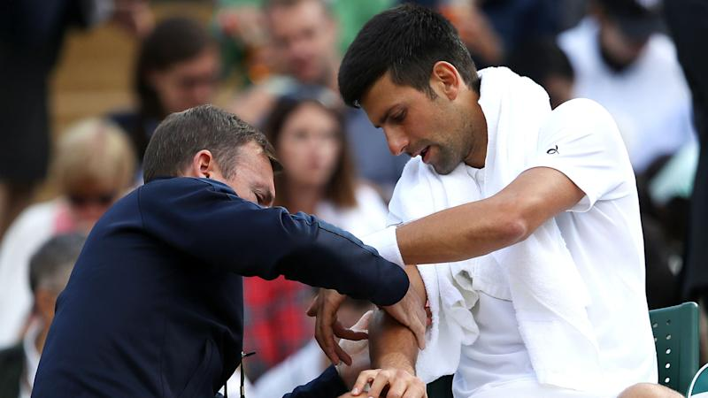 Shoulder concern for last-eight Djokovic