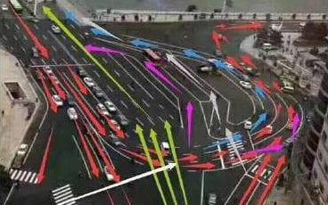 An unusual traffic junction has confused Chinese motorists - Hebei Broadcasting Network / China Business Network