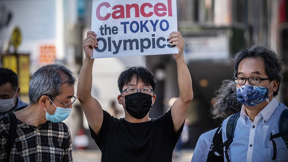 Olympic athletes will be asked to sign a waiver clearing the Olympics organisers of any responsibility should they contract the coronavirus while in Tokyo for the 2021 Games. (Photo by Carl Court/Getty Images)