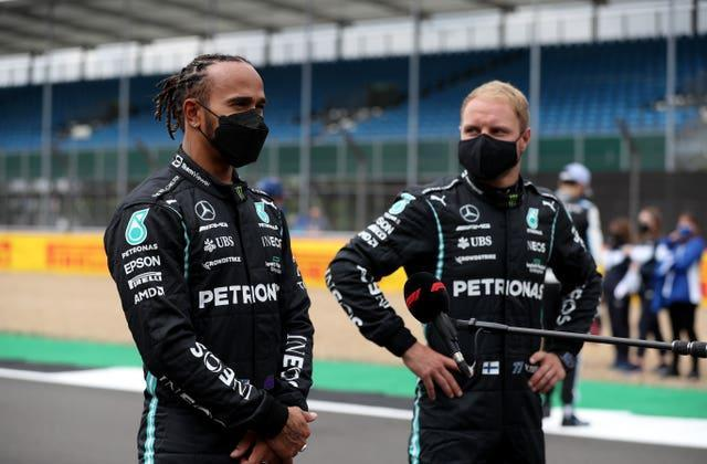 Bottas (right) has been Hamilton's team-mate at Mercedes since 2017