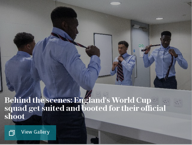 Behind the scenes: England's World Cup squad get suited and booted for their official shoot