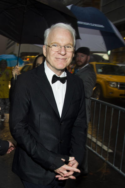 FILE - In this May 19, 2013 file photo, Steve Martin attends the 2013 Drama Desk Awards in New York. The honorary Academy Awards go to Martin, Angelina Jolie, Angela Lansbury and Italian costume designer Piero Tosi. The film academy announced Thursday, Sept. 5, 2013, that Jolie will receive the Jean Hersholt Humanitarian Award, while Martin, Lansbury and Tosi will get Oscars recognizing their career achievements. (Photo by Charles Sykes/Invision/AP, File)