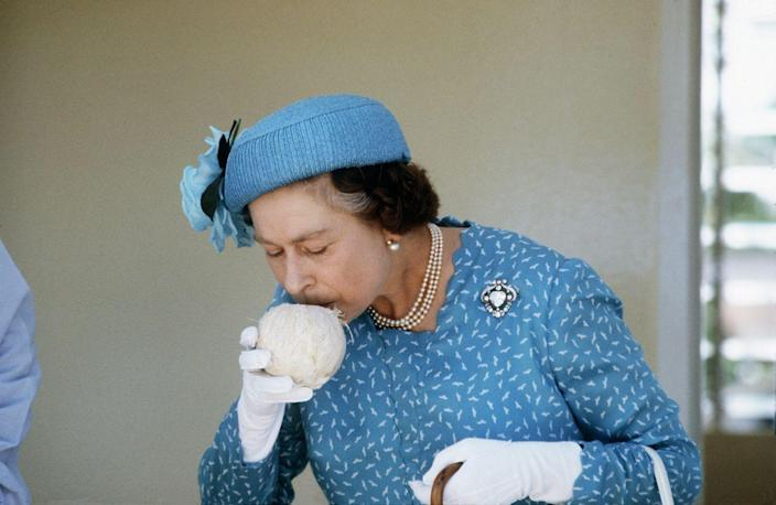 """<p>Well, they can. But if they must, they have to be sure to <a href=""""http://www.businessinsider.com/14-etiquette-rules-the-royal-family-must-always-follow-2017-8#hold-teacups-properly-8"""" rel=""""nofollow noopener"""" target=""""_blank"""" data-ylk=""""slk:sip"""" class=""""link rapid-noclick-resp"""">sip</a> from the same spot the whole time they enjoy their drinks so as to be sure there aren't lipstick marks enveloping the cup's entire rim.</p>"""