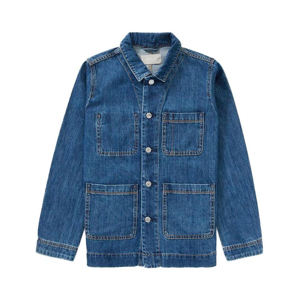 """<p><strong>everlane</strong></p><p>everlane.com</p><p><a href=""""https://go.redirectingat.com?id=74968X1596630&url=https%3A%2F%2Fwww.everlane.com%2Fproducts%2Fwomens-denim-chore-jacket-darkindigo&sref=https%3A%2F%2Fwww.elle.com%2Ffashion%2Fshopping%2Fg35279952%2Fbest-fashion-on-sale-2021%2F"""" rel=""""nofollow noopener"""" target=""""_blank"""" data-ylk=""""slk:Shop Now"""" class=""""link rapid-noclick-resp"""">Shop Now</a></p><p><strong><del>$88</del> $35 (60% off)</strong></p><p>Whether you're leaning into minimalism this spring or just need a denim jacket upgrade, Everlane's popular chore jacket will do the trick. </p>"""