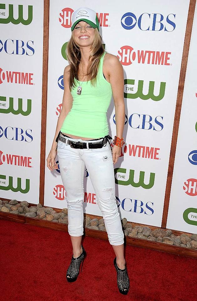 """90210"" star AnnaLynne McCord went with an oddly casual look for the big event. Think the trucker hat was maybe a bit much? Steve Granitz/<a href=""http://www.wireimage.com"" target=""new"">WireImage.com</a> - August 3, 2011"