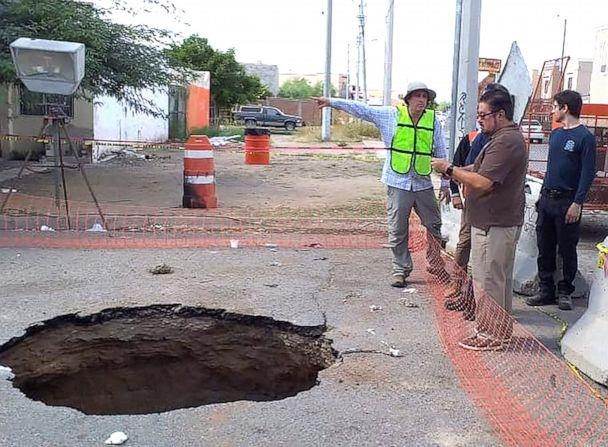 PHOTO: Members of the Phoenix Fire Department helped officials in Hermosillo, Mexico rescue a man after he fell into a sinkhole, Oct. 19, 2019. (Phoenix Fire Department)