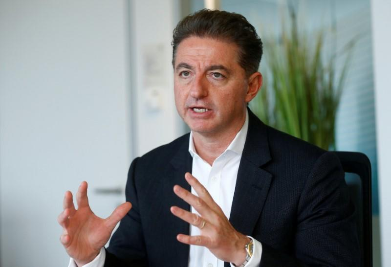 FILE PHOTO: CEO of Deutsche Telekom's T-Systems, Al-Saleh speaks during an interview with Reuters in Frankfurt