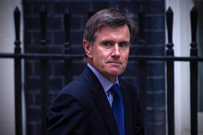 Then-head of the MI6 foreign spy service John Sawers, arrives in Downing Street in London on August 28, 2013 (AFP Photo/Carl Court)