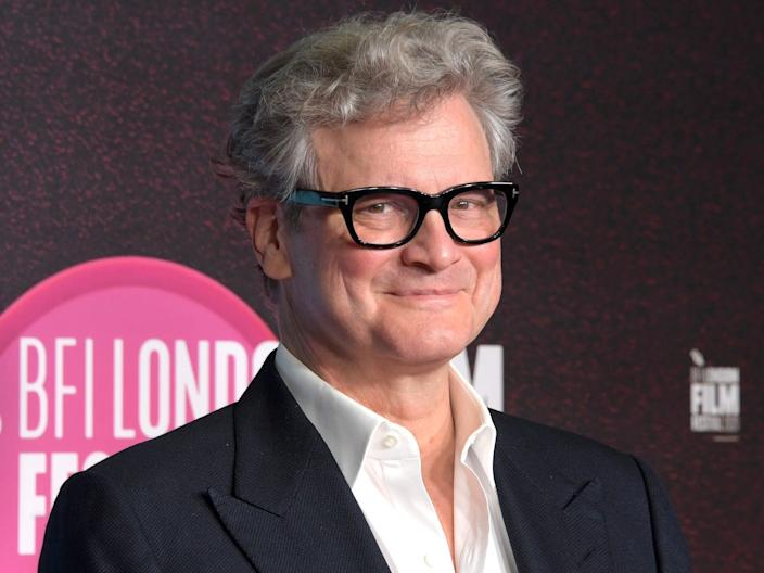 Colin Firth October 2020 red carpet Getty Images