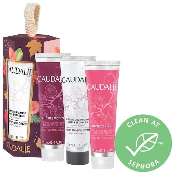<p>With cold weather approaching (or already here) in much of the country, this <span>Caudalie Hand and Nail Cream Trio</span> ($15) will most definitely be appreciated in 2020 whether you gift the kit to one person or divide it up.</p>