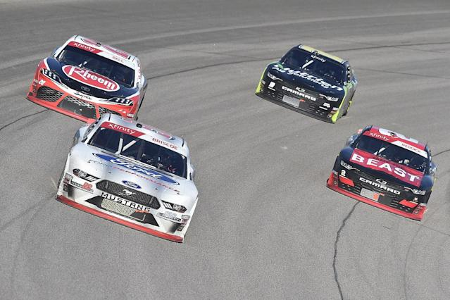 NASCAR Xfinity title rivals in post-race scuffle