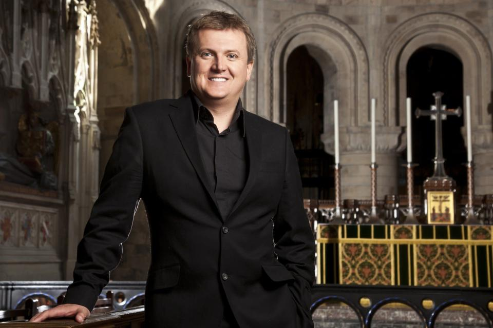 Aled normally hosts Songs Of Praise. Copyright: [BBC]