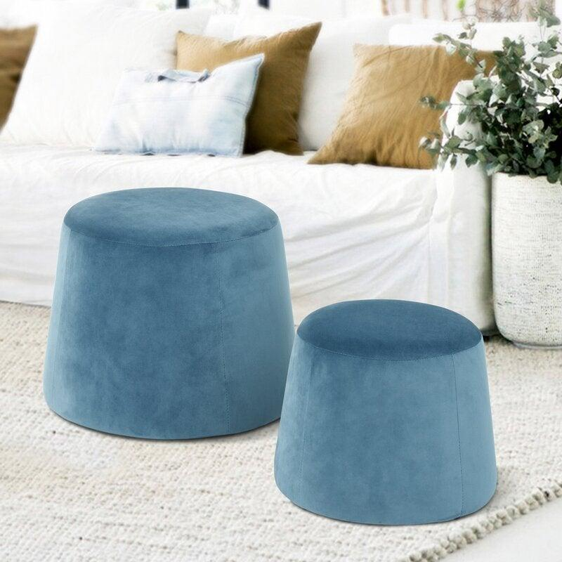 "<h3><a href=""https://www.allmodern.com/furniture/pdp/weist-pouf-a001117484.html"" rel=""nofollow noopener"" target=""_blank"" data-ylk=""slk:AllModern Weist Nesting Poufs"" class=""link rapid-noclick-resp"">AllModern Weist Nesting Poufs</a></h3><br><strong>When extra seating, tabletop, AND storage space all compete:</strong> This compact set of chic velvet poufs not only serves as bonus seating AND tabletop surface area, but it boasts bonus interior storage, too — and can nest together when not in use. <br><br><strong>AllModern</strong> Weist Pouf Set, $, available at <a href=""https://go.skimresources.com/?id=30283X879131&url=https%3A%2F%2Fwww.allmodern.com%2Ffurniture%2Fpdp%2Fweist-pouf-a001117484.html"" rel=""nofollow noopener"" target=""_blank"" data-ylk=""slk:AllModern"" class=""link rapid-noclick-resp"">AllModern</a>"