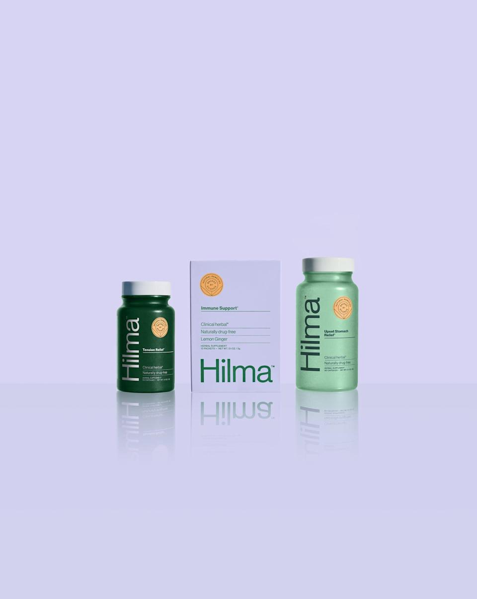 <p>The <span>Hilma The Starter Trio</span> ($45) is a perfect gift for anyone that wants to boost their immunity or relieve tension over this stressful time. It includes immune support, tension relief, and upset stomach relief.</p>