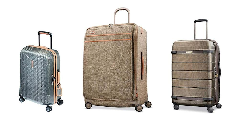 "<p class=""body-tip""><a class=""link rapid-noclick-resp"" href=""https://www.amazon.com/s?k=hartmann+luggage&rh=p_89%3AHartmann&qid=1552927628&rnid=2528832011&ref=sr_nr_p_89_1&tag=syn-yahoo-20&ascsubtag=%5Bartid%7C10055.g.26898407%5Bsrc%7Cyahoo-us"" rel=""nofollow noopener"" target=""_blank"" data-ylk=""slk:SHOP NOW"">SHOP NOW</a> </p><p>This luxury brand is <strong>on the pricey side, but has timeless designs </strong>— from hardside to tweed fabric — that never go out of style. In fact, the brand's marketing and aesthetics are focused heavily on its heritage. It has been a top performer in our tests thanks to its spacious interior that's easy to pack and its wheels and handles that make it smooth and comfortable to maneuver. It outperformed even pricier styles, so you know you're getting good bang for your buck.<br></p>"