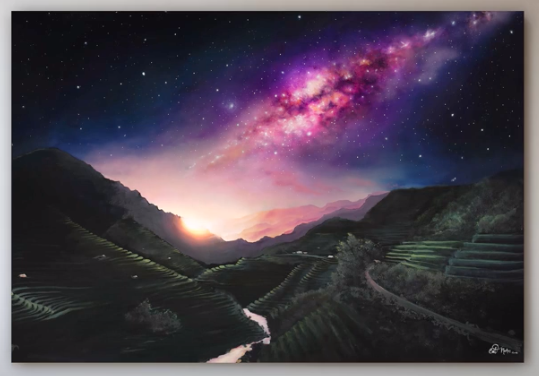 Another of Cat Machin's artworks, Stars over Sapa. Image: Supplied