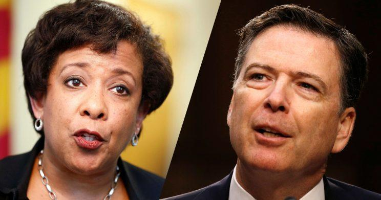 Former U.S. Attorney General Loretta Lynch and former FBI Director James Comey