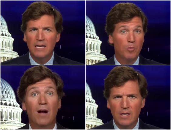 If eyes are windows to the soul, Tucker Carlson's is black and white