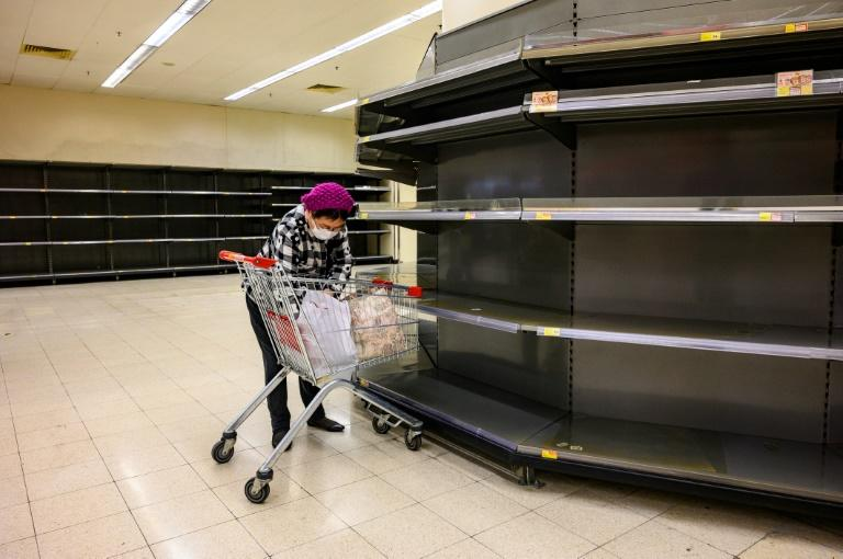 Hong Kong has been hit by a wave of panic-buying with supermarket shelves frequently emptied of staple goods