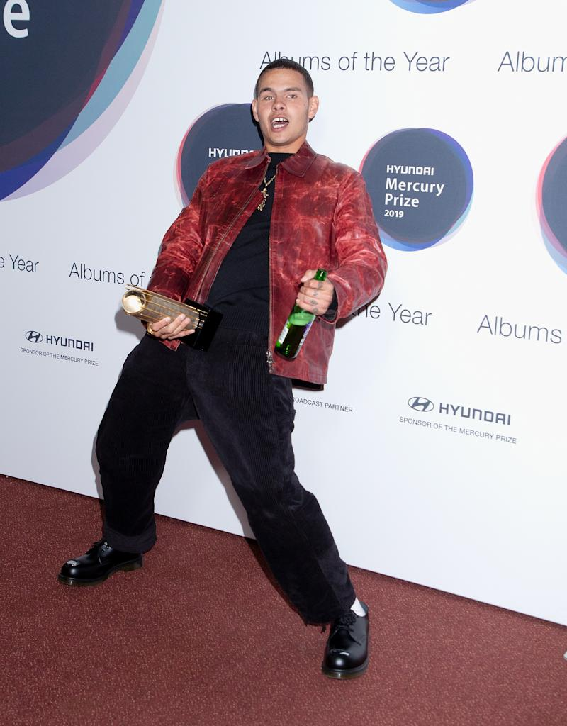 LONDON, ENGLAND - SEPTEMBER 19: (EDITORIAL USE ONLY) Tyron Frampton of slowthai attends the Hyundai Mercury Prize: Albums of the Year at Eventim Apollo, Hammersmith on September 19, 2019 in London, England. (Photo by Jo Hale/Redferns)