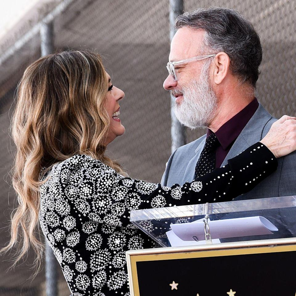 """<p>Much has happened for the couple since Rita was given a clean bill of health in May 2015: She's released three albums and produced several movies (including <em><a href=""""https://www.amazon.com/Mamma-Mia-Here-We-Again/dp/B07FMTQX4X/?tag=syn-yahoo-20&ascsubtag=%5Bartid%7C10055.g.3131%5Bsrc%7Cyahoo-us"""" rel=""""nofollow noopener"""" target=""""_blank"""" data-ylk=""""slk:Mamma Mia! Here We Go Again"""" class=""""link rapid-noclick-resp"""">Mamma Mia! Here We Go Again</a></em>), and Tom has starred in a number of films of his own, including <em><a href=""""https://www.amazon.com/Sully-Tom-Hanks/dp/B01LVU3Q96/?tag=syn-yahoo-20&ascsubtag=%5Bartid%7C10055.g.3131%5Bsrc%7Cyahoo-us"""" rel=""""nofollow noopener"""" target=""""_blank"""" data-ylk=""""slk:Sully"""" class=""""link rapid-noclick-resp"""">Sully</a>, </em><em><a href=""""https://www.amazon.com/Post-Meryl-Streep/dp/B078XMV6WJ/?tag=syn-yahoo-20&ascsubtag=%5Bartid%7C10055.g.3131%5Bsrc%7Cyahoo-us"""" rel=""""nofollow noopener"""" target=""""_blank"""" data-ylk=""""slk:The Post"""" class=""""link rapid-noclick-resp"""">The Post</a>, </em><em><em><a href=""""https://www.goodhousekeeping.com/life/entertainment/a26973139/tom-hanks-mister-rogers-movie-new-photos/"""" rel=""""nofollow noopener"""" target=""""_blank"""" data-ylk=""""slk:A Beautiful Day in the Neighborhood"""" class=""""link rapid-noclick-resp"""">A Beautiful Day in the Neighborhood</a></em></em>, and, most recently, <em>Greyhound</em>. And through it all, of course, the couple has continued to support each other — including when Rita received her own star on the Hollywood Walk of Fame this March. """"She has a highlight reel that any of us would envy,"""" Tom <a href=""""https://www.today.com/popculture/rita-wilson-celebrates-walk-fame-star-alongside-husband-tom-hanks-t151293"""" rel=""""nofollow noopener"""" target=""""_blank"""" data-ylk=""""slk:said of his wife"""" class=""""link rapid-noclick-resp"""">said of his wife</a>, while commemorating her career at the event. </p><p>Now how's that for #CoupleGoals? 😍</p>"""