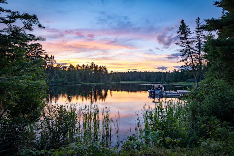 """<p>It's no wonder that Maine would be an ideal getaway for vacationers, including Martha herself: In the heart of the Highlands, <a href=""""https://visitmaine.com/things-to-do/parks-natural-attractions/moosehead-lake"""" rel=""""nofollow noopener"""" target=""""_blank"""" data-ylk=""""slk:Moosehead Lake"""" class=""""link rapid-noclick-resp"""">Moosehead Lake</a> is the largest of all in this northernmost state. It cover 75,000 acres of forestland and has been a mecca for those seeking an immersive outdoor experience amid salmon, beavers, white tailed deer, and snowshoe hares. Plus, as the name would suggest, moose sightings are not uncommon along its shores.</p>"""