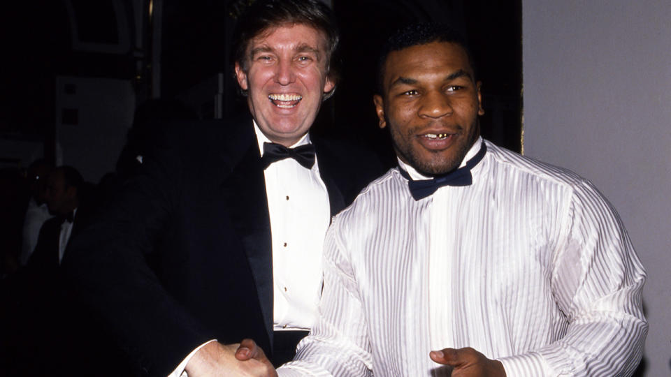 Donald Trump and Mike Tyson, pictured here in New York City in 1989.