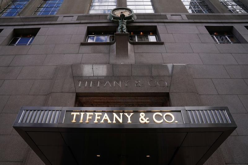 3fd93df03985 A Tiffany   Co logo is seen outside the store on 5th Ave in New York