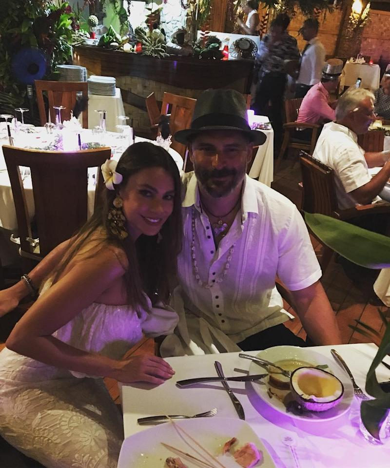 """<p>The <i>Modern Family</i> star ended the year in paradise: vacationing with her husband, Joe Manganiello, in Bora Bora, . (Photo: <a rel=""""nofollow"""" href=""""https://www.instagram.com/p/BOt5MgLg0Dd/?taken-by=sofiavergara"""">Instagram</a>) </p>"""