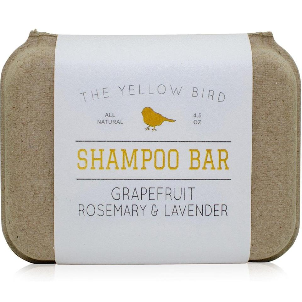 """<p>Your hair will be soft and shiny after using <a href=""""https://www.popsugar.com/buy/Yellow-Bird-Shampoo-Bar-475674?p_name=The%20Yellow%20Bird%20Shampoo%20Bar&retailer=amazon.com&pid=475674&price=10&evar1=bella%3Aus&evar9=46455248&evar98=https%3A%2F%2Fwww.popsugar.com%2Fbeauty%2Fphoto-gallery%2F46455248%2Fimage%2F46455251%2FYellow-Bird-Shampoo-Bar&list1=hair%2Cbeauty%20products%2Cshampoo&prop13=api&pdata=1"""" rel=""""nofollow noopener"""" class=""""link rapid-noclick-resp"""" target=""""_blank"""" data-ylk=""""slk:The Yellow Bird Shampoo Bar"""">The Yellow Bird Shampoo Bar</a> ($10). It cleanses with kanolin clay and hydrates with jojoba oil.</p>"""