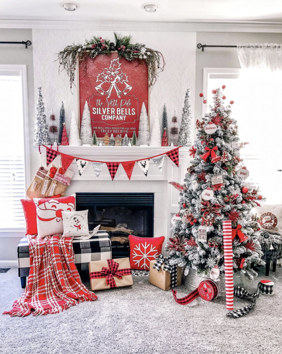 "<p>If you really want to bring the cheer this year, go with plenty of vibrant red decor. An easy and playful option: seasonal felt bunting. </p><p><em>See more at <a href=""https://www.instagram.com/p/B5tqsQdl0ZC/"" rel=""nofollow noopener"" target=""_blank"" data-ylk=""slk:Ellery Designs"" class=""link rapid-noclick-resp"">Ellery Designs</a>.</em></p><p><a class=""link rapid-noclick-resp"" href=""https://go.redirectingat.com?id=74968X1596630&url=https%3A%2F%2Fwww.etsy.com%2Flisting%2F730384712%2Fchristmas-bunting-new-scandi-design-for&sref=https%3A%2F%2Fwww.oprahmag.com%2Flife%2Fg34484299%2Fchristmas-mantel-decor-ideas%2F"" rel=""nofollow noopener"" target=""_blank"" data-ylk=""slk:SHOP CHRISTMAS BUNTING"">SHOP CHRISTMAS BUNTING</a></p>"