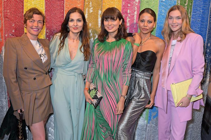 Camilla Rutherford, Yasmin Mills, Jasmine Hemsley, Emma Weymouth and Arizona Muse (Dave Benett/Getty Images for BOT)