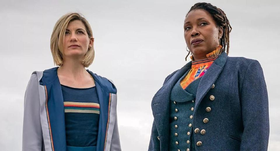 Jodie Whittaker and Jo Martin in Doctor Who.