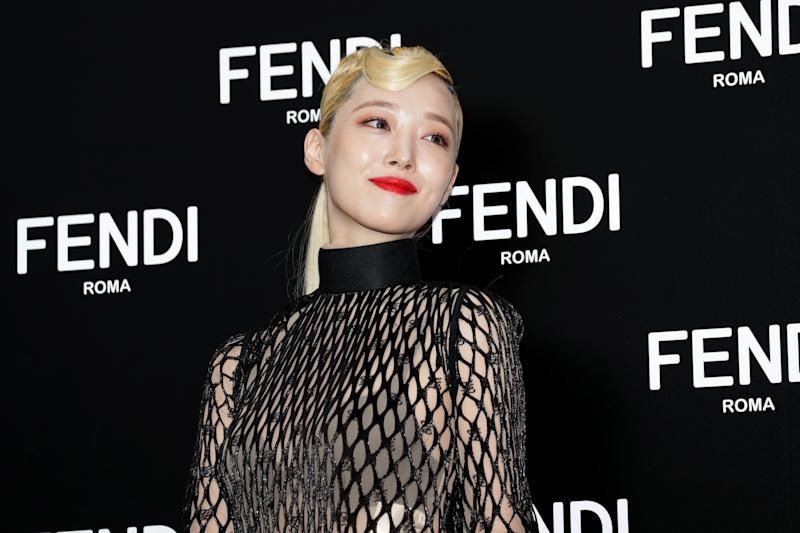 SEOUL, SOUTH KOREA - SEPTEMBER 03: Former member of South Korean girl group f(x), Sulli, attends the photocall for FENDI on September 03, 2019 in Seoul, South Korea. (Photo by Han Myung-Gu/WireImage)