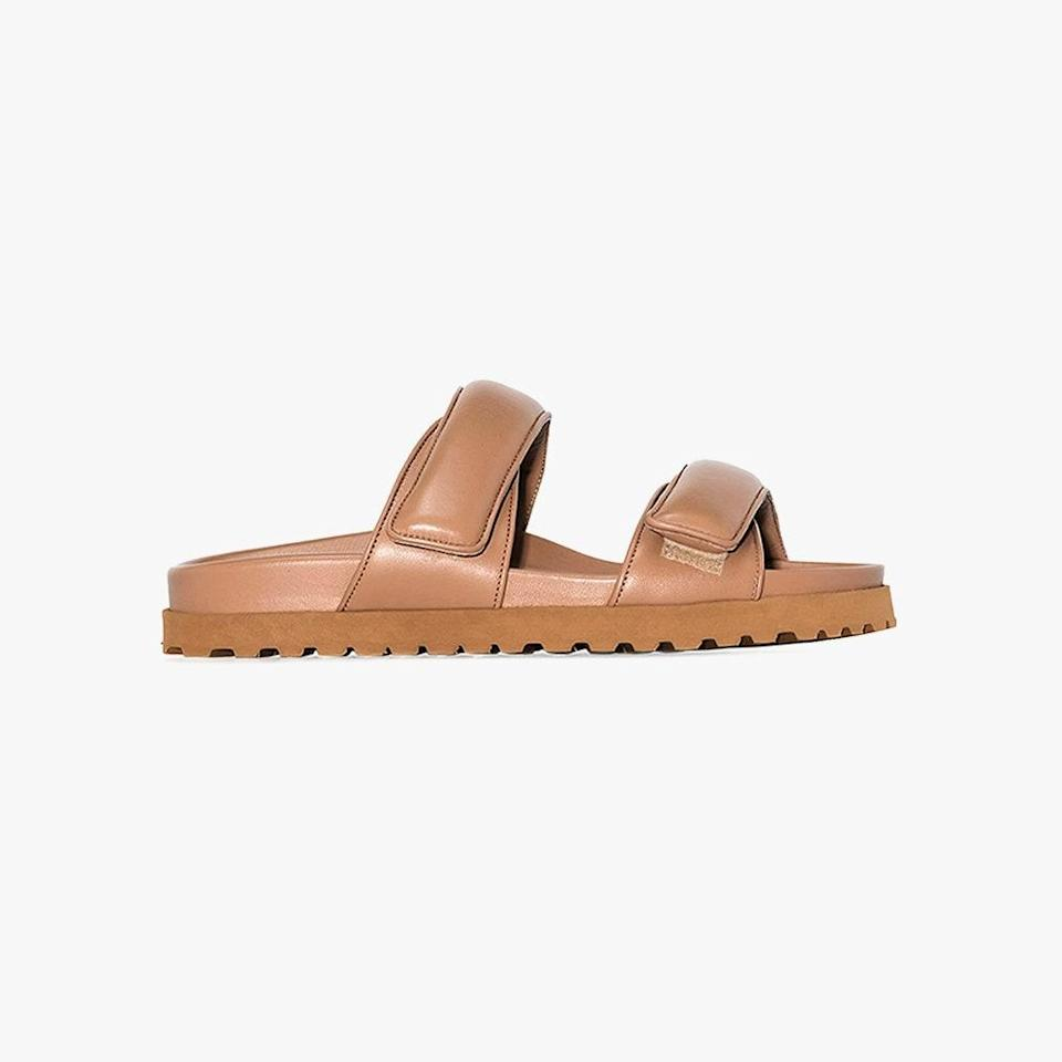 """$378, BROWNS. <a href=""""https://www.brownsfashion.com/shopping/gia-couture-x-pernille-teisbaek-brown-perni-11-leather-sandals-16023191"""" rel=""""nofollow noopener"""" target=""""_blank"""" data-ylk=""""slk:Get it now!"""" class=""""link rapid-noclick-resp"""">Get it now!</a>"""