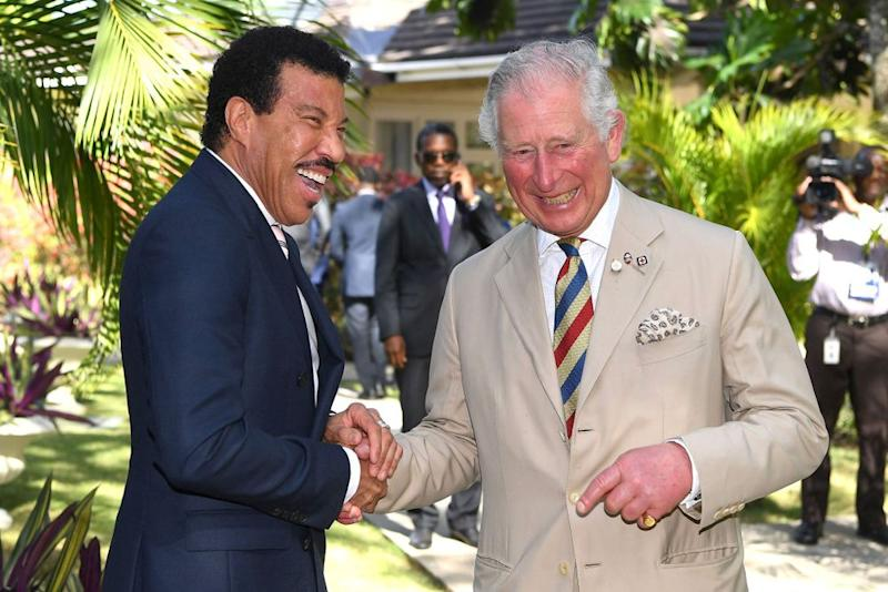 Lionel Richie and Prince Charles | Tim Rooke/Shutterstock