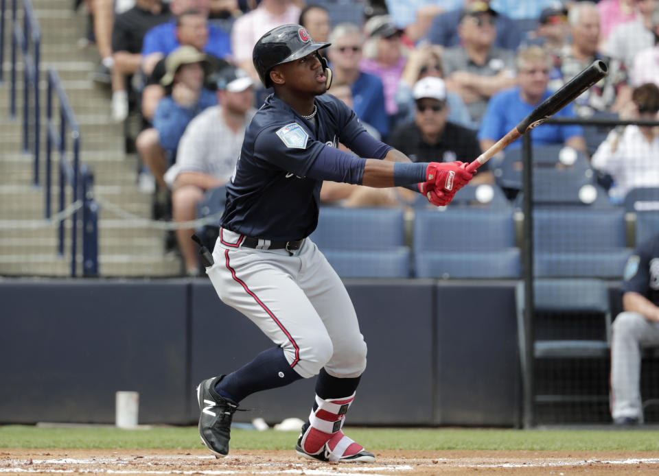 One scout believes Ronald Acuña will be in the MVP conversation this season as a 20-year-old rookie for the Atlanta Braves. (AP)