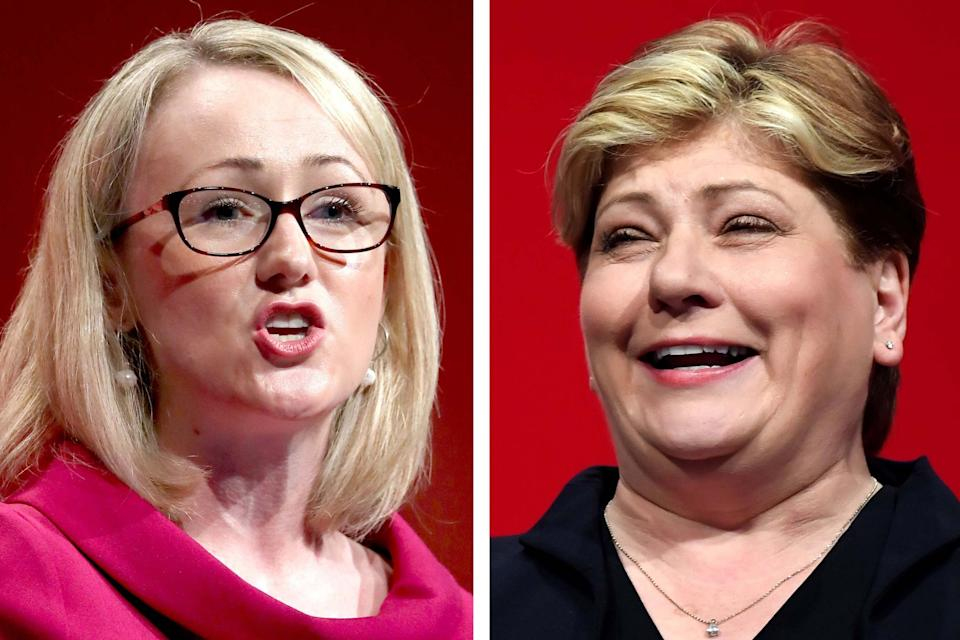 Labour leadership hopefuls Rebecca Long-Bailey and Emily Thornberry: PA