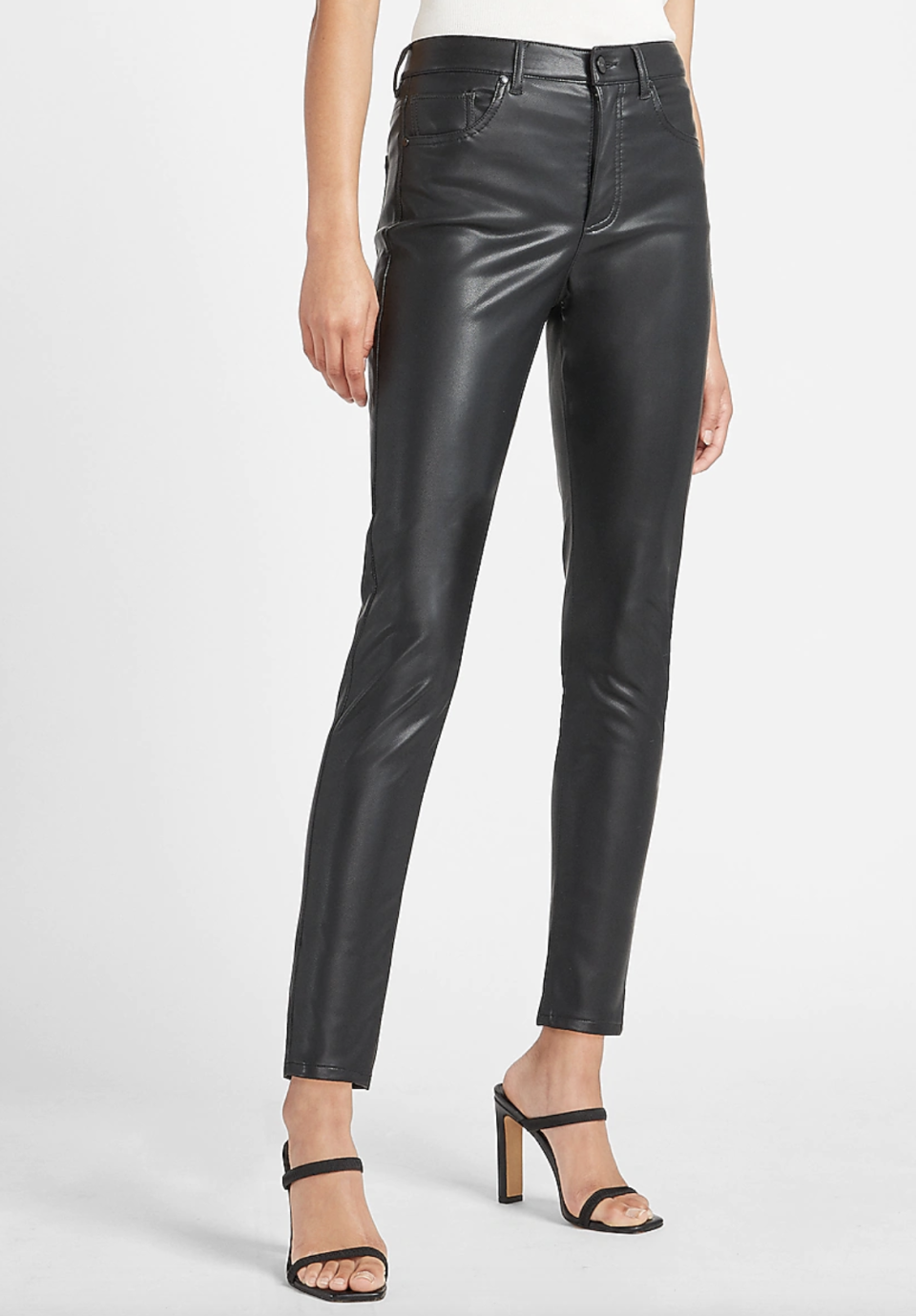 Express High Waisted Vegan Leather Skinny Ankle Pant , $40 (originally $80)