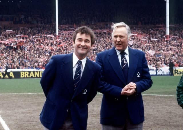 Clough (left) was known as 'Old Big 'Ead' (PA)