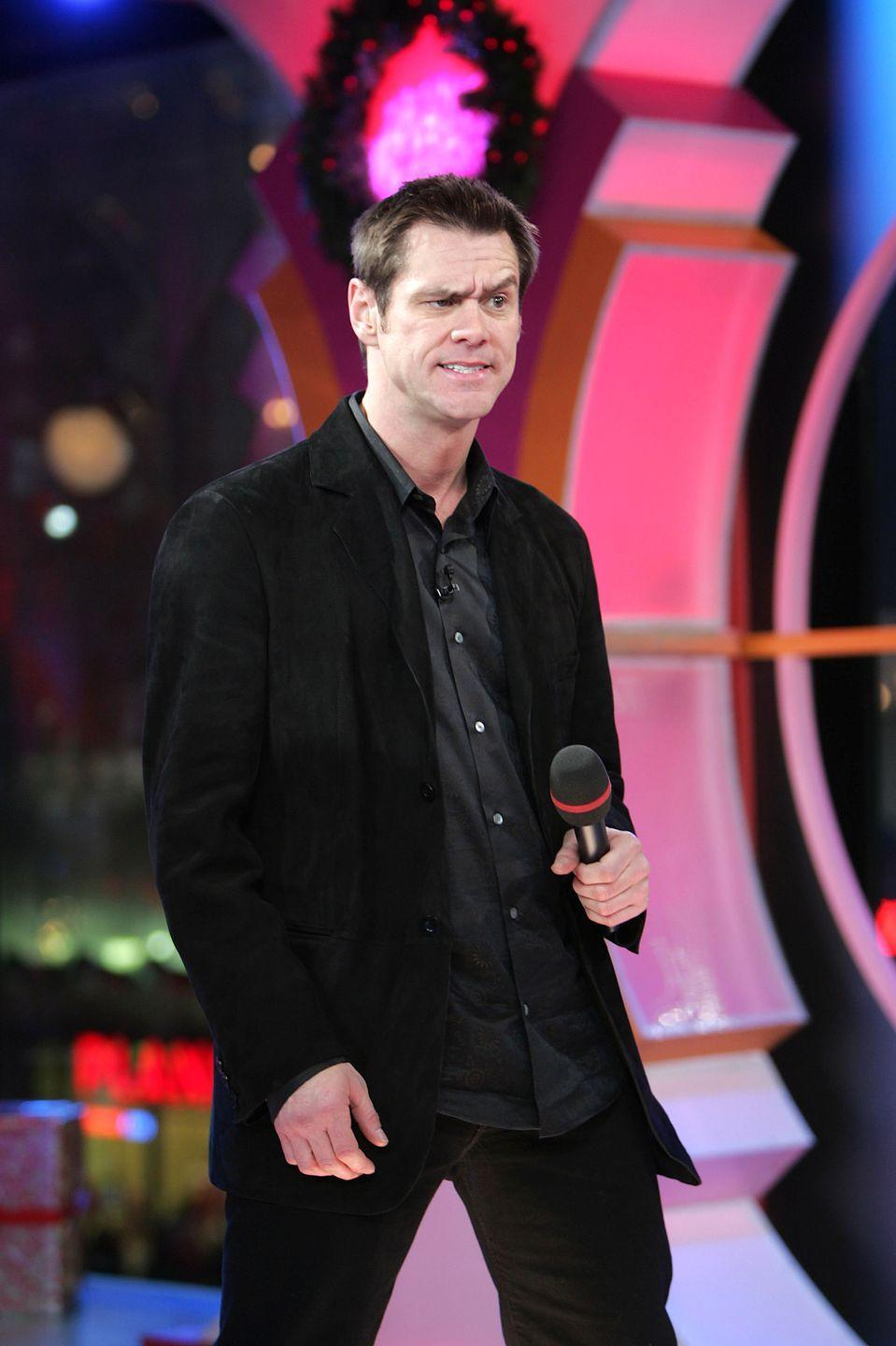<p>I'm sure Jim Carrey thought his all-black look for <em>TRL </em>was timeless. Think again, Jim. Think again.  </p>